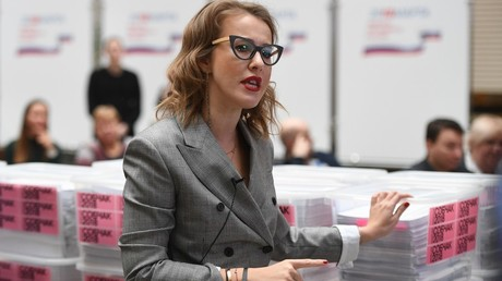 Russian presidential candidate Sobchak takes campaign to Washington DC