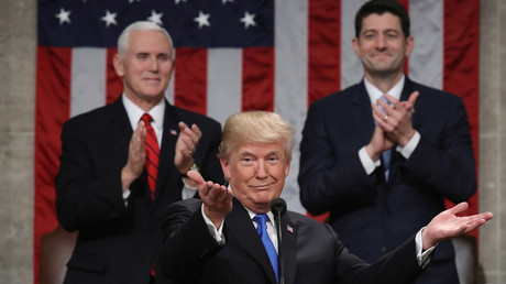 President Donald Trump delivers his first State of the Union address. © Win McNamee