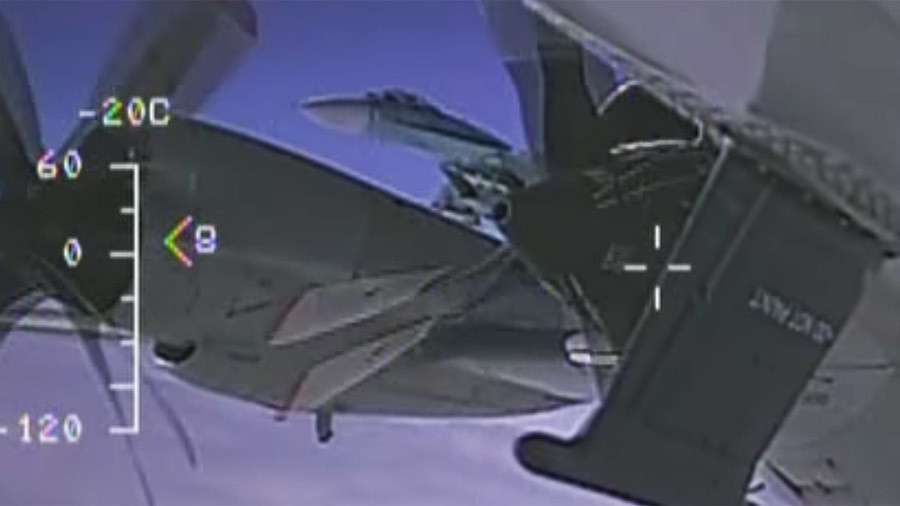 Navy releases videos of 'unsafe' intercept by Russian jet