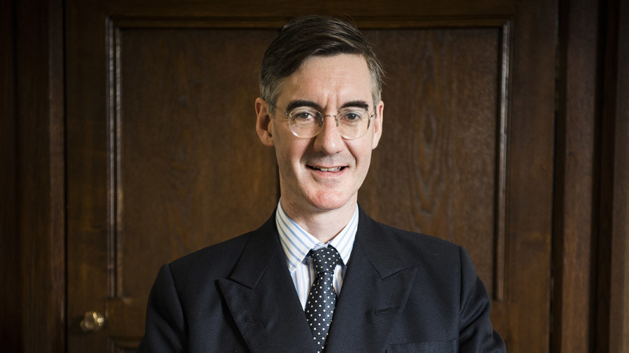 Tory MP Jacob Rees-Mogg caught in scuffle at university