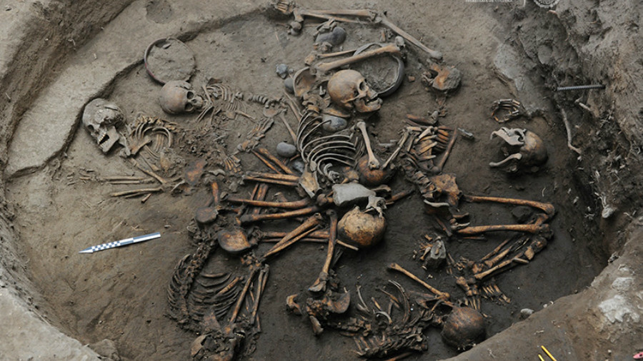 'Ritualistic' ancient skeleton spiral unearthed in Mexico (PHOTOS, VIDEO)