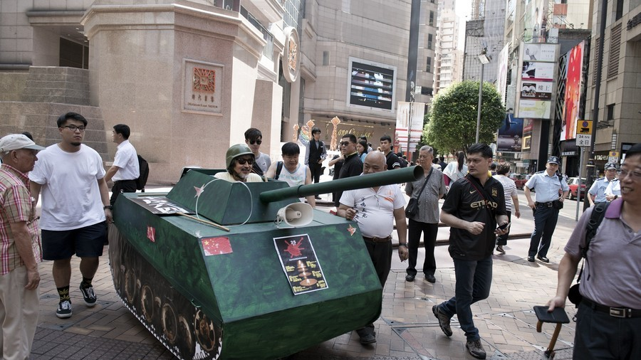 Tanks for nothing: Chinese police seize man's hand-made battle vehicle (VIDEO)