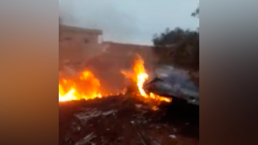 First alleged footage of Russian Su-25 jet shot down over Syria's Idlib (VIDEO)