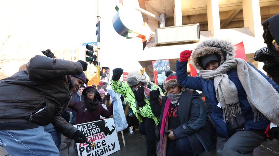Black Lives Matter shut down rail to Super Bowl for 2 hours in protest against police violence