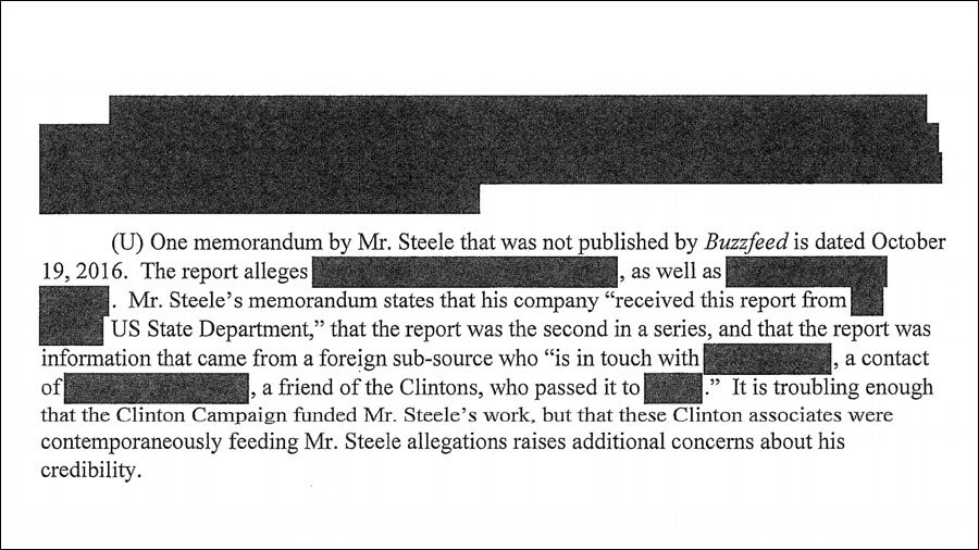 Steele wrote memo based on information fed through Clinton campaign — released documents