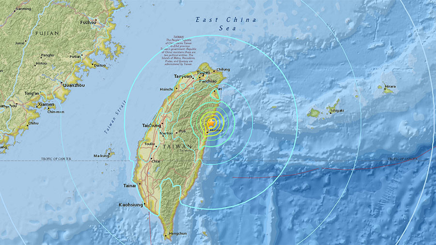 Quake  strikes off coast of Taiwan, hotel collapses