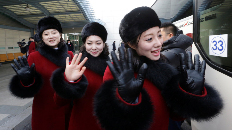 Charm offensive: 200+ N. Korean cheerleaders arrive at Olympics to be followed by Kim's sister