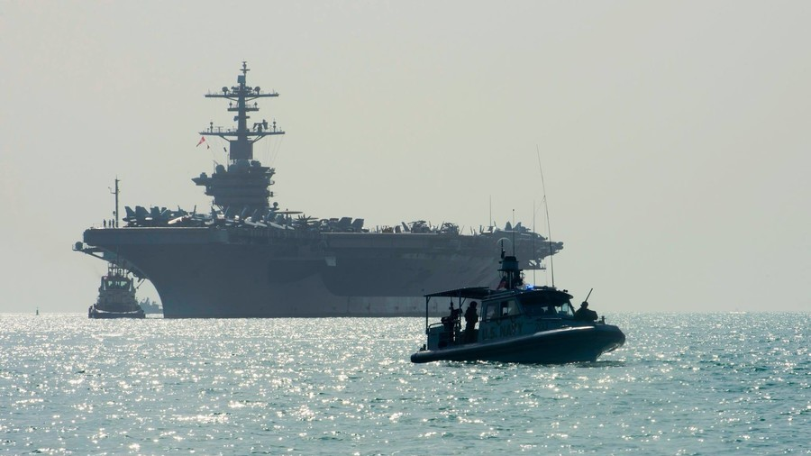'Speak softly & carry a big stick': US Navy tweets Roosevelt quote, photo of aircraft carrier