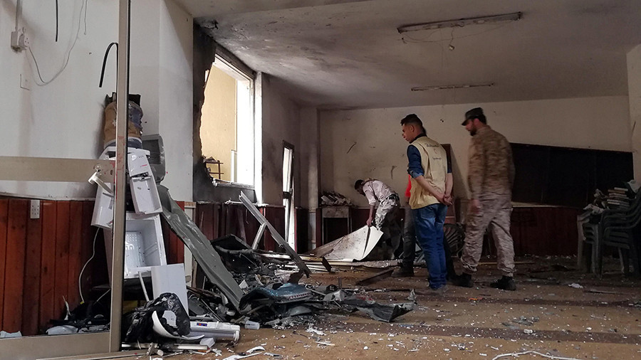 1 killed scores injured in twin bombings at Benghazi mosque