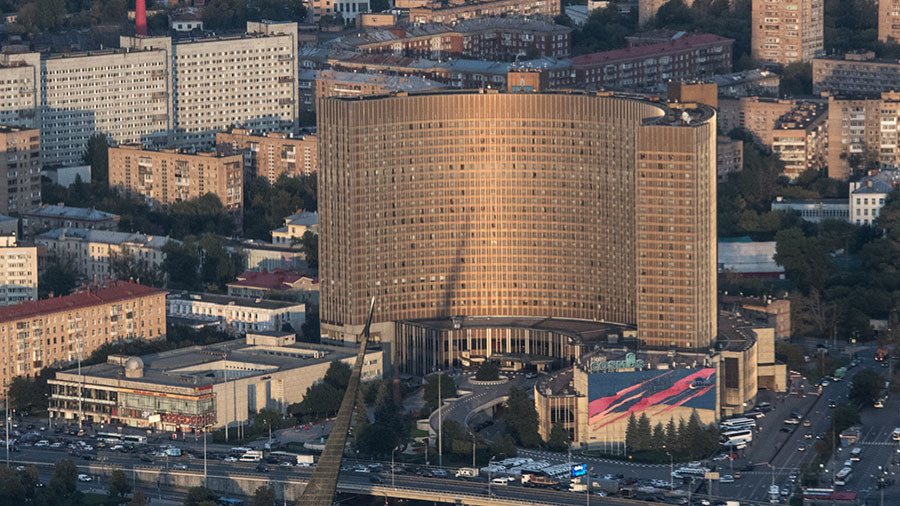 Evacuation after fire breaks out at iconic Moscow hotel