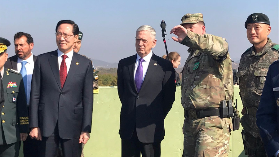 Pentagon chief brushes off thaw between Koreas