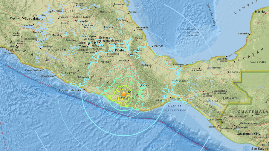 72 magnitude quake hits mexico near pacific coast