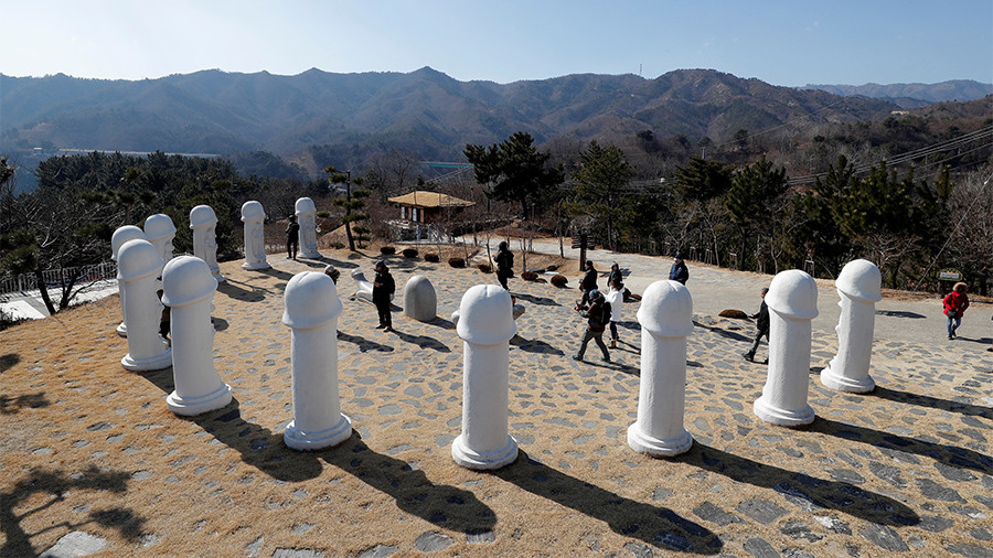 Homage to the penis: Park full of phallus sculptures attracts Olympic fans
