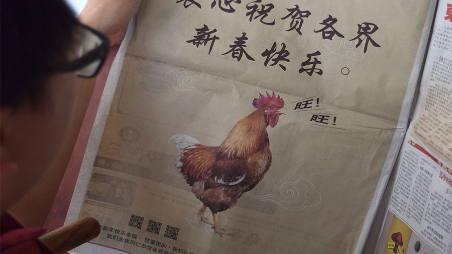 Cock up: Malaysian govt mocked for printing barking rooster in Year of the Dog ad