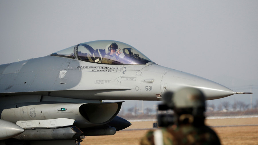 F-16's Engine Catches Fire Over Japan; No Injuries Reported