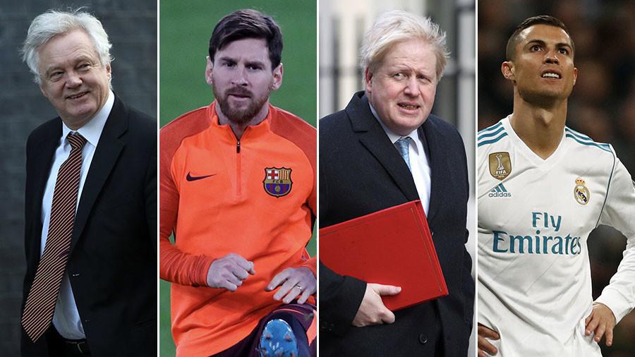 Johnson & Davis are 'the Messi & Ronaldo' of cabinet – Michael Gove mocked for football comparison