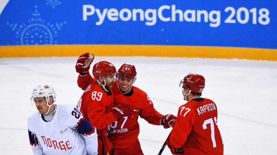 Russian men's hockey team proceeds to Olympic semi-final after beating Norway 6-1
