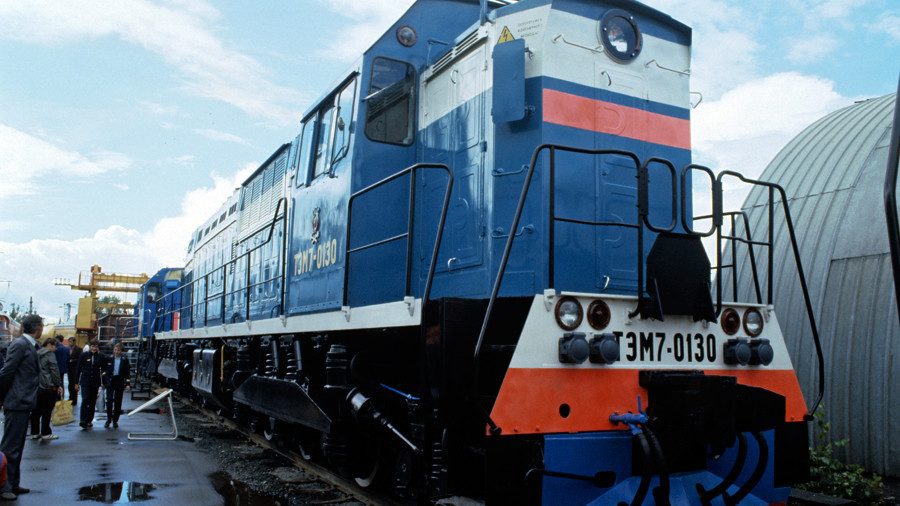 Russian diesel locomotives arrive in Cuba