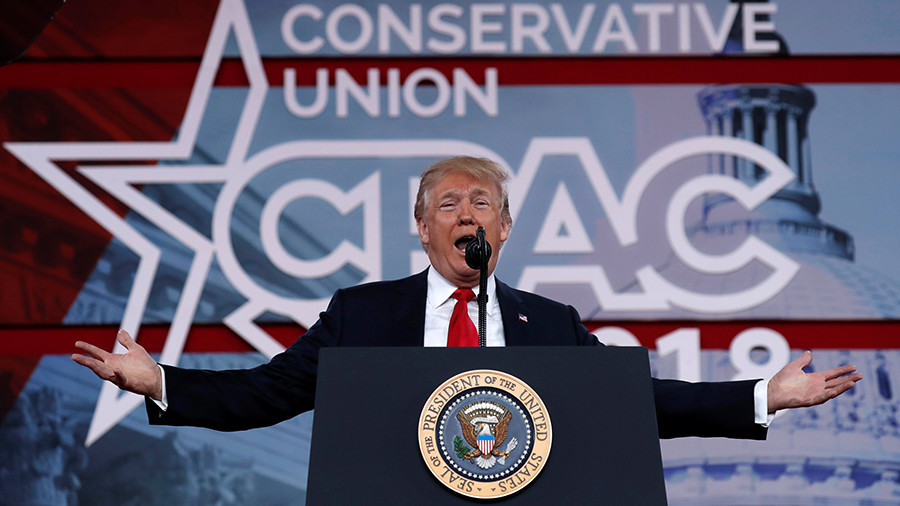 Time to make schools harder target for attackers -Trump at CPAC