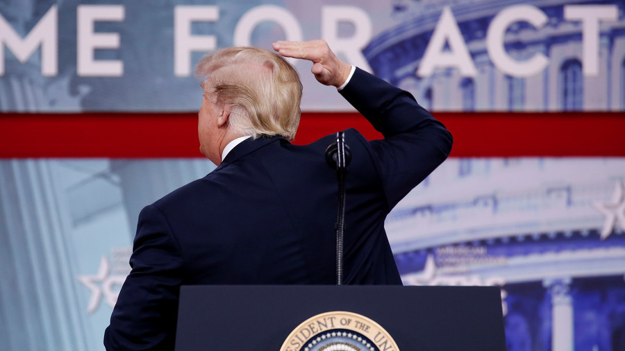 In CPAC speech, Trump baldly goes where no president has gone before