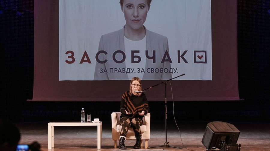 Crimean lawmakers seek to remove 'none of the above' candidate Sobchak from presidential race