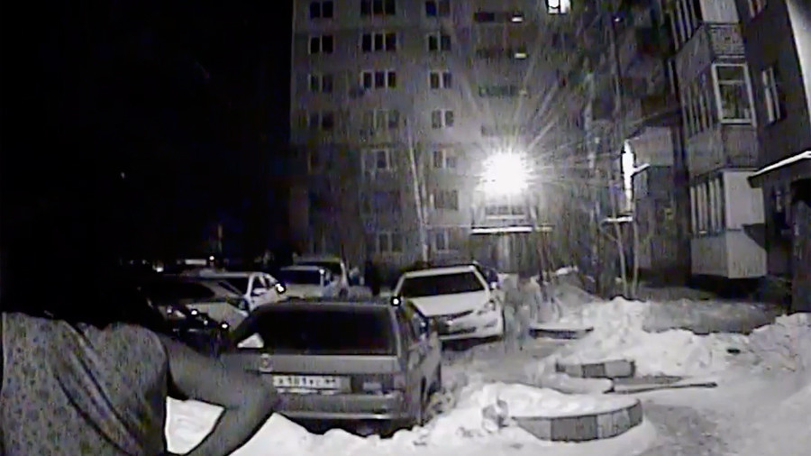 Half-naked hero: Brave Russian blitzes thief to foil parking lot robbery (VIDEO)