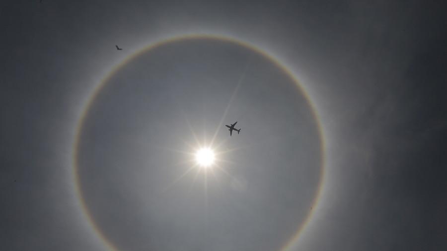 'Rainbow' halos light up Brazilian skies following staggering celestial event (VIDEO)