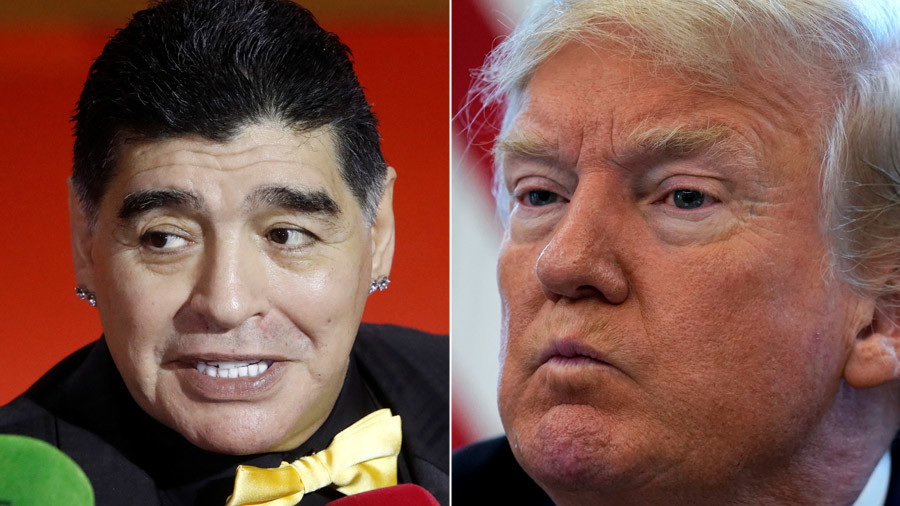 Banned of God! - Football icon Maradona denied entry to US 'for calling Trump a puppet'