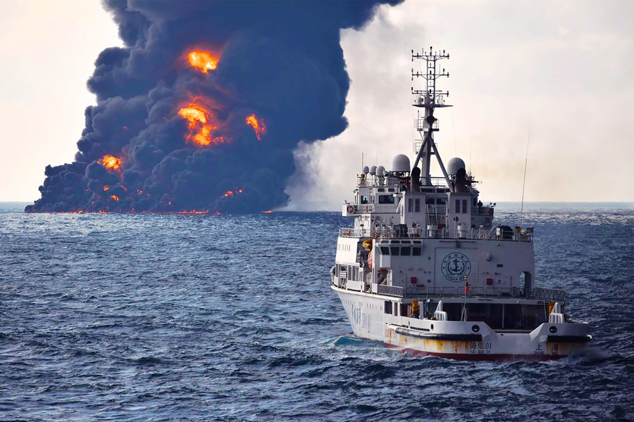 'Oil-like' substance pollutes Japanese beaches following tanker explosion