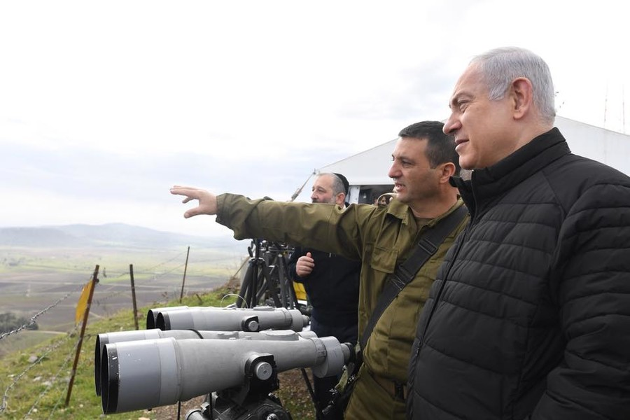 Netanyahu pays rare visit to Golan Heights, warns Israel's enemies against 'testing' its resolve