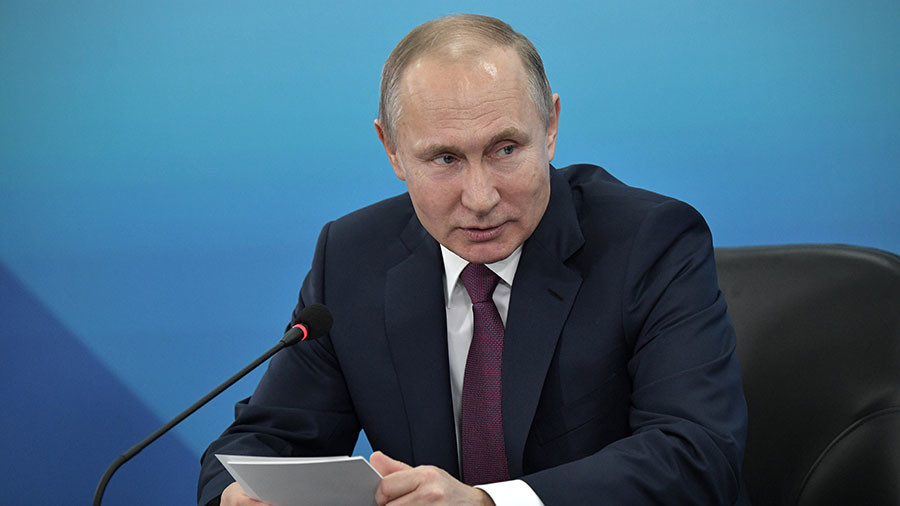 Putin: Russia still a world leader in sport despite Olympics situation