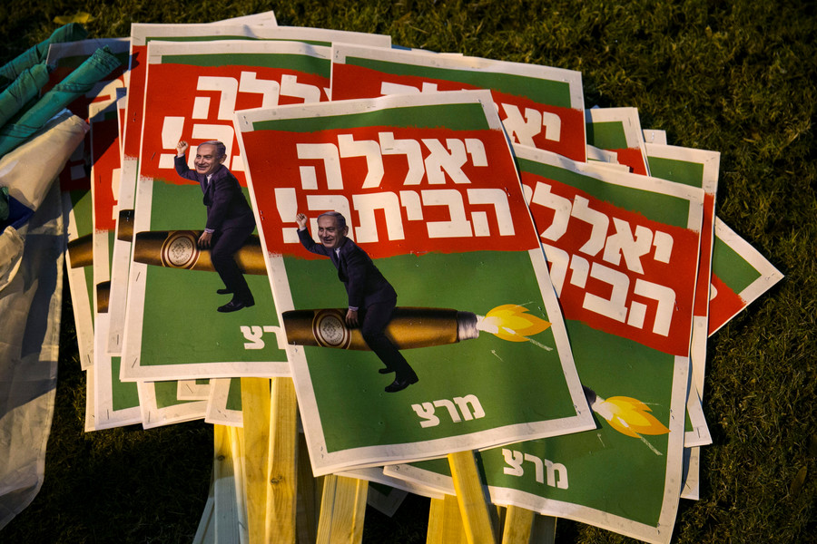 'Bibi go home!' Israelis demand Netanyahu resignation over looming corruption charges (VIDEO)