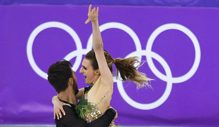 Flash Dance Costume Malfunction Leaves French Olympic Figure Alexander Vilf