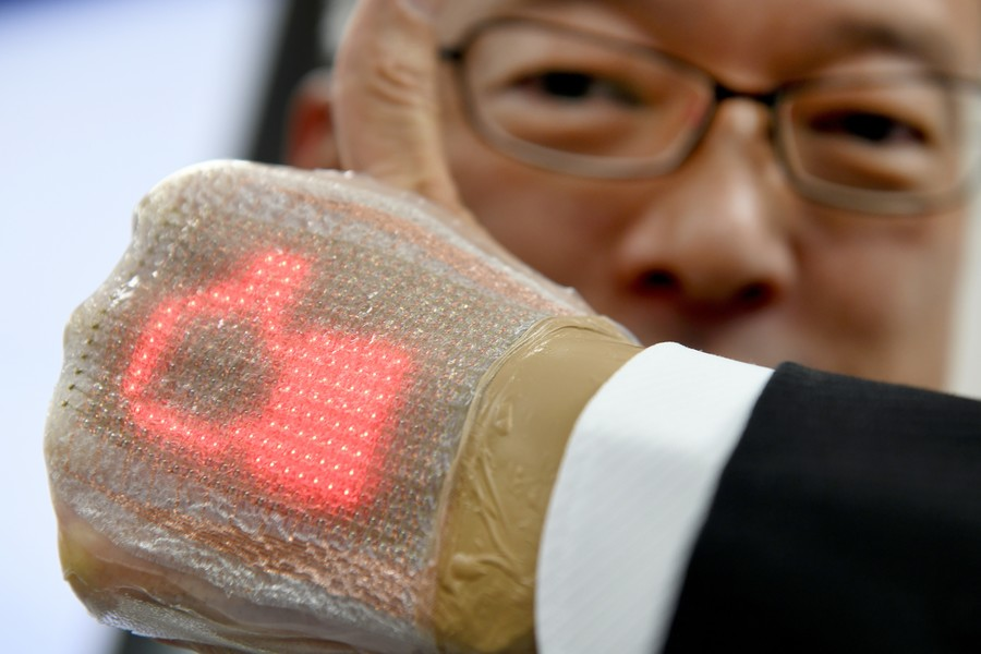 'Part of your body': Japanese scientists reveal on-skin display