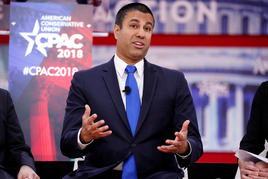 NRA gives FCC chair Pai the 'Charlton Heston Courage Under Fire Award'