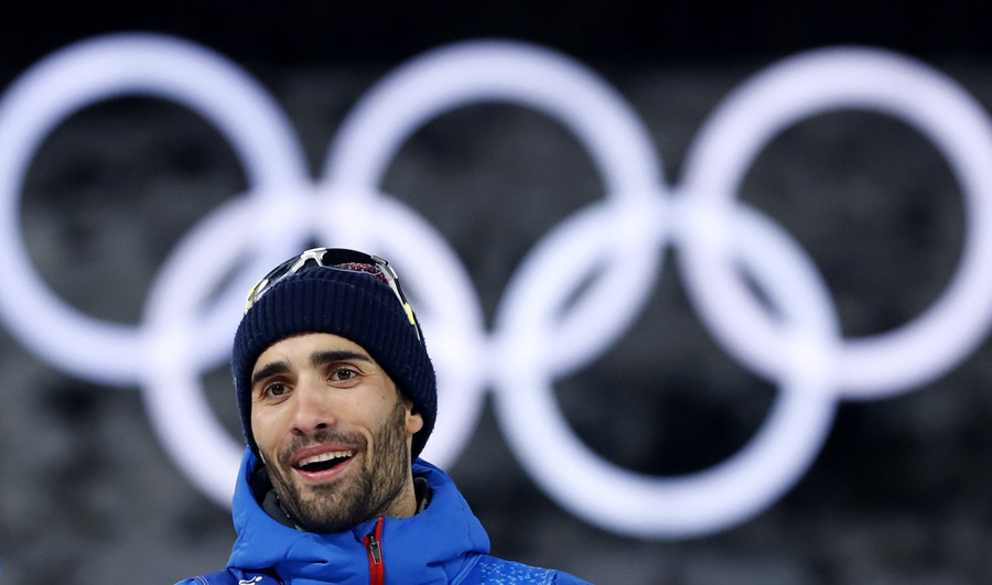 French biathlete Fourcade supports Russians' right to bear national flag at PyeongChang closing