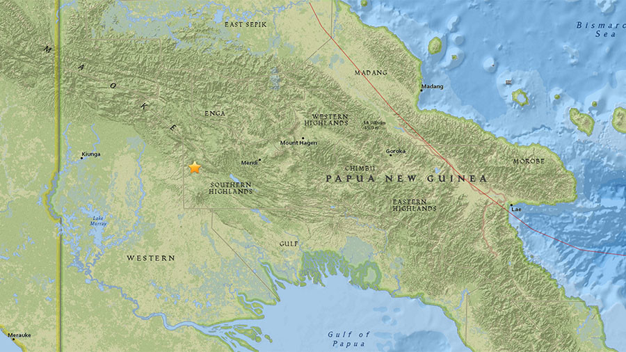 7.5 magnitude earthquake strikes Papua New Guinea - USGS