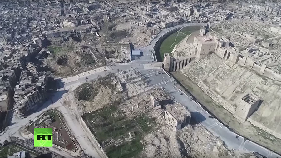 Task of rebuilding Syria laid bare in staggering Aleppo drone footage (VIDEO)