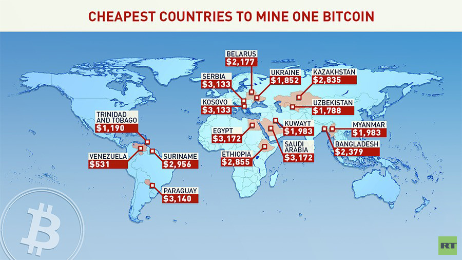 map of where cryptocurrency is being mined the mdst