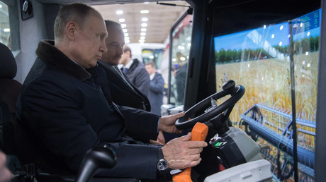 Putin jokes he might become a combine driver if he loses the 2018 election (VIDEO)