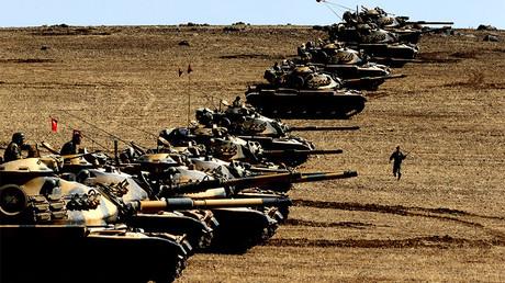 Turkey bombs giant portrait of Kurdish leader Ocalan near Afrin (VIDEO)
