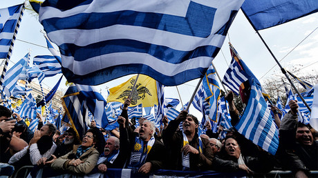'Macedonia is Greece!' Thousands march through Athens in country-naming dispute (VIDEO)