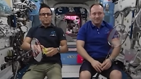 Smashing: RT's 360 space video captures first-ever badminton tournament on ISS