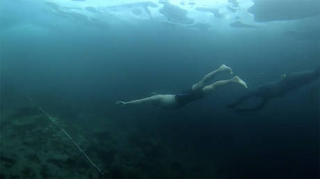 Ice-cold water feels like no water: Young woman shares her all-weather swim (VIDEO)