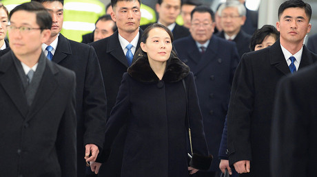 North Korea's leader Kim Jong Un's younger sister Kim Yo Jong arrives at Incheon International Airport, South Korea, February 9, 2018 © Kyodo / Reuters