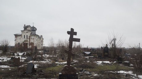 A destroyed convent near Donetsk airport © Valery Melnikov