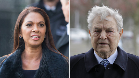 Gina Miller(R), George Soros(L) © Global Look Press
