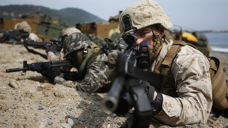 FILE PHOTO: U.S. and South Korean marines participate in a U.S.-South Korea joint landing operation drill in Pohang © Kim Hong-Ji