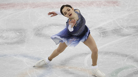 Russian figure skater Medvedeva sets world record in short program at PyeongChang