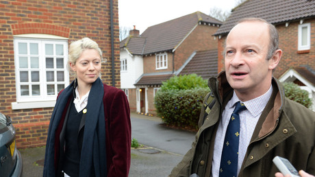 UKIP Leader Henry Bolton and his girlfriend Jo Marney leaving her family home in Maidstone, Kent , United Kingdom, January 5. © I-Images / Global Look Press